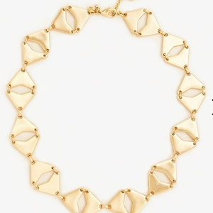 Ann Taylor triangle necklace/ gold tone